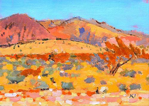 Red Rocks Landscape Painting Las Vegas Nevada