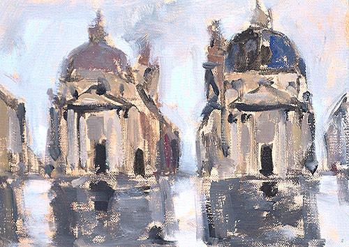 Piazza del Popolo Rome Painting