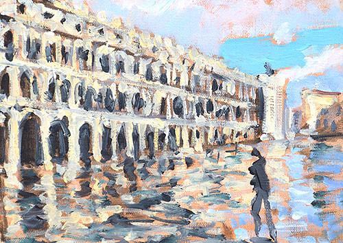 Acqua Alta Piazza San Marco Venezia Venice Painting