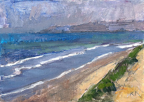 Del Mar Beach Painting by Kevin Inman