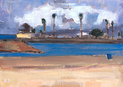 Dog Beach OB Painting by Kevin Inman
