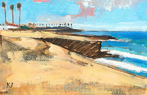 Sunset Cliffs Ocean Beach Painting San Diego Kevin Inman