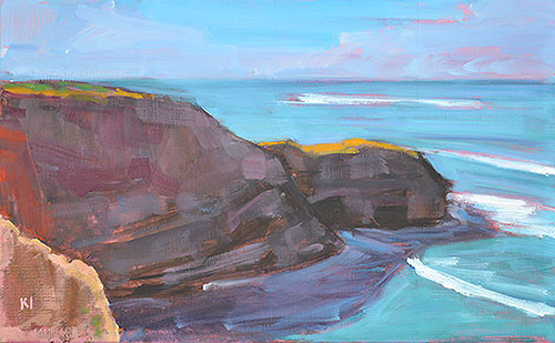 Ocean Beach Sunset Cliffs Plein Air Painting