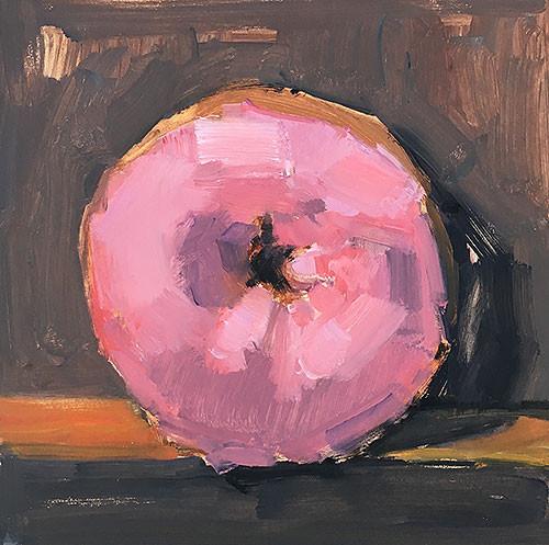 Pink Donut Still Life Painting