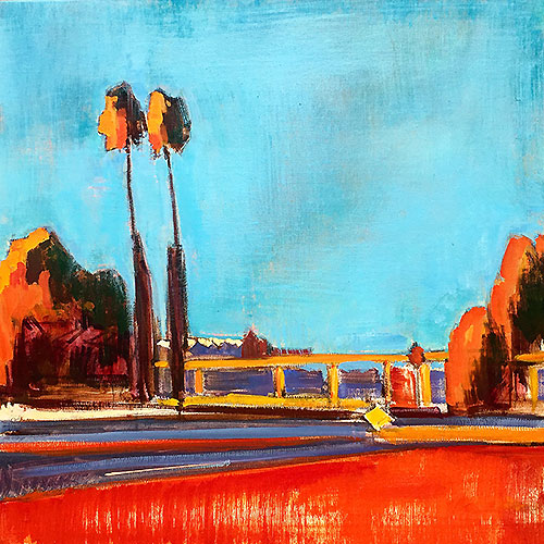 Sherman Heights San Diego Painting by Kevin Inman