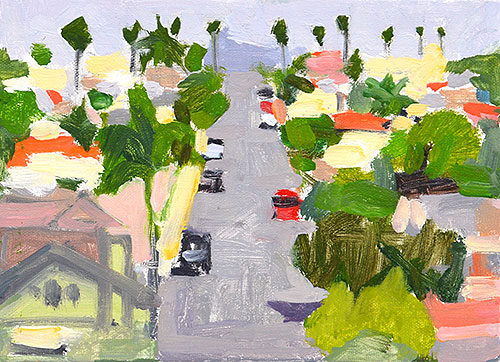 Over North Park San Diego Painting by Kevin Inman