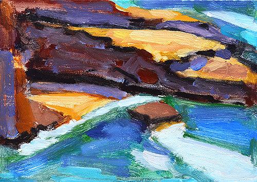 Ocean Beach Plein Air Painting San Diego by Kevin Inman