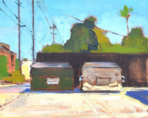 Dumpster Painting by Kevin Inman San Diego