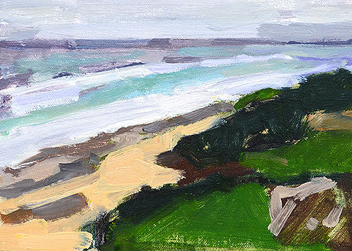 Windansea Beach Plein Air Painting by San Diego Artist Kevin Inman
