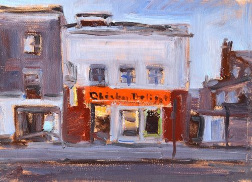 London England Painting Chicken Shop by Kevin Inman