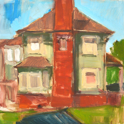 House in Golden Hill San Diego Landscape Painting Kevin Inman