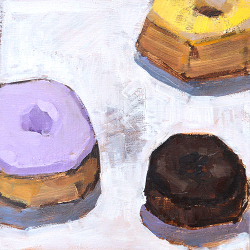 Donuts Original Oil Painting by San Diego Artist Kevin Inman