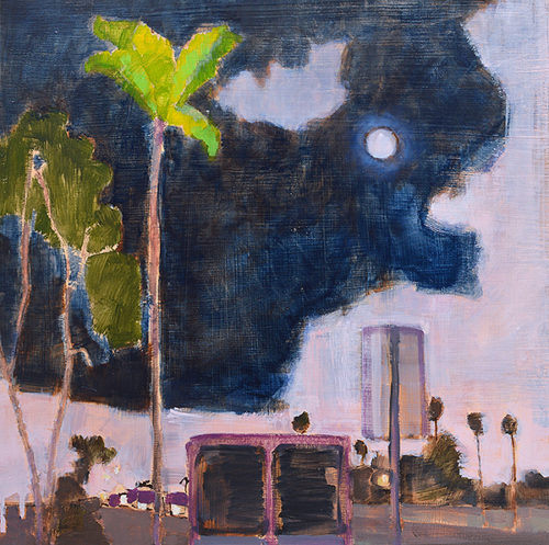 Nocturne, San Diego Landscape Night Painting by Kevin Inman