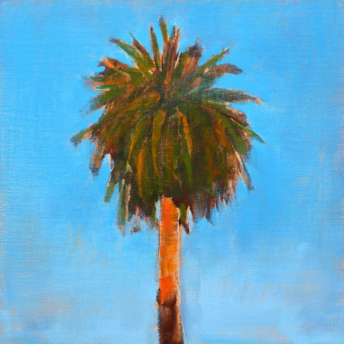 Palm Tree Painting San Diego Landscape by Kevin Inman