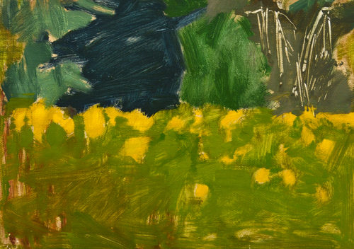 Yellow Wildflowers Painting San Diego Plain Air Landscape by Kevin Inman