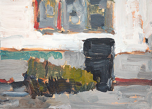 Plein Air Painting Trash Can by Kevin Inman