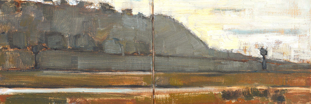 Del Mar Bluffs landscape painting by Kevin Inman