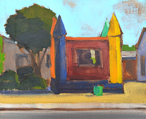 Bounce House Painting by Kevin Inman