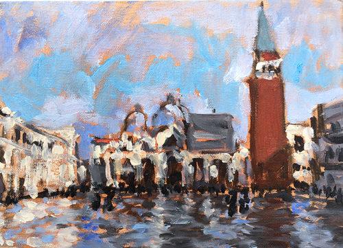 Venice, Italy Painting San Marco Plein Air
