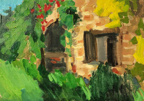 Tuscan Farmhouse Painting