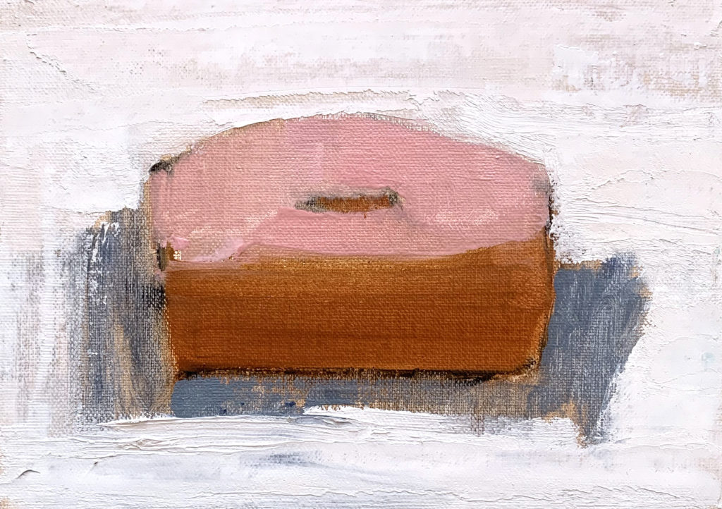 Pink Dunkin Donut Painting by Kevin Inman