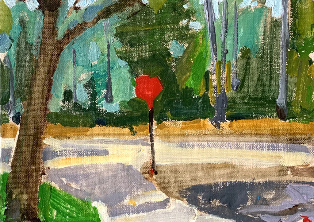Stop Sign Painting Balboa Park