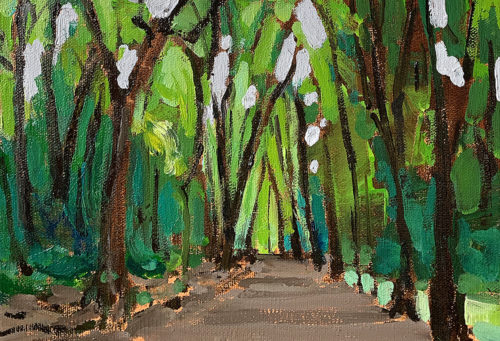 Hampstead Heath Woods Oil painting