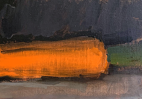 Oil painting of carrot