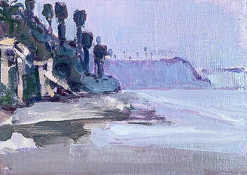 Painting of Grandview Beach, Encinitas