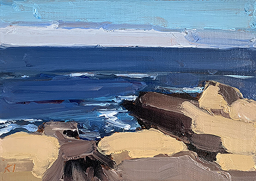 Plein air beach painting of Sonoma Coast by Kevin Inman