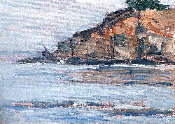 Plein Air painting California coast Sonoma County