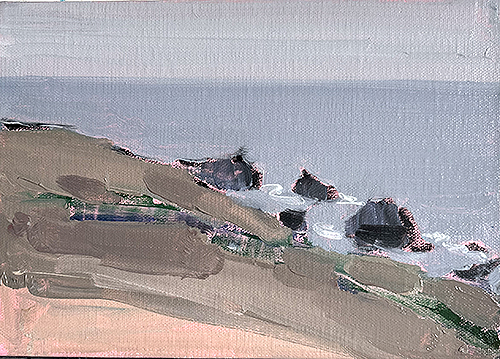 Painting of coast near Jenner by Kevin Inman